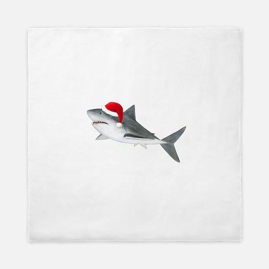 Christmas - Santa Shark Queen Duvet