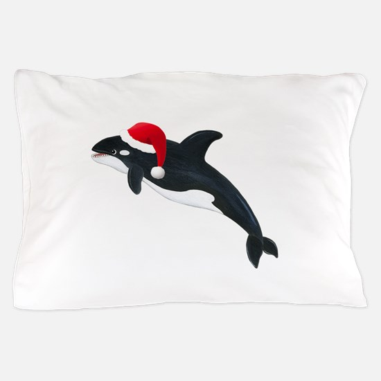 Christmas Whale Pillow Case