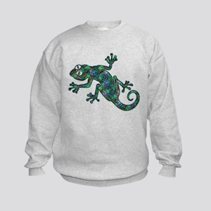 Decorative Chameleon Kids Sweatshirt