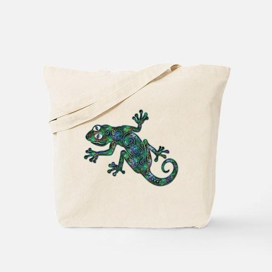 Decorative Chameleon Tote Bag