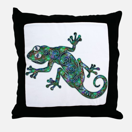 Decorative Chameleon Throw Pillow