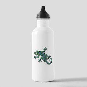 Decorative Chameleon Stainless Water Bottle 1.0L