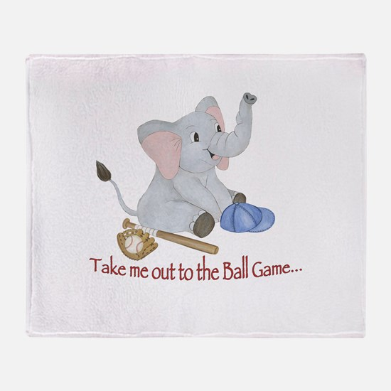 Baseball - Elephant Throw Blanket