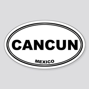 Cancun Oval Sticker