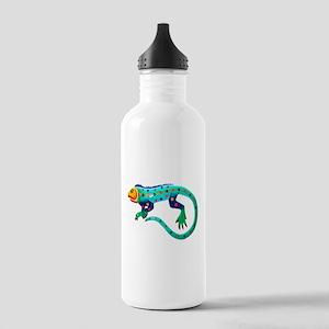 Turquoise Polka Dot Fiesta Lizard Stainless Water