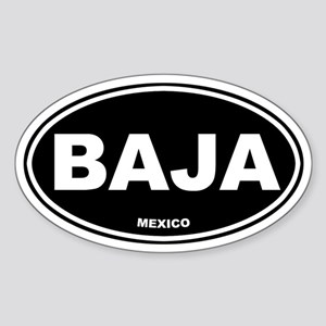 BAJA (Mexico) Oval Sticker