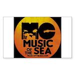 Music Of The Sea Sticker (Rectangle 50 pk)