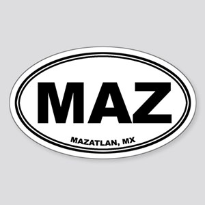 Mazatlan Oval Sticker