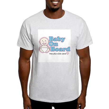 Baby on Board Ash Grey T-Shirt