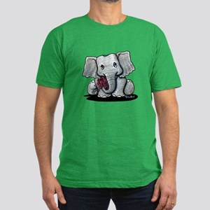 KiniArt Elephant Men's Fitted T-Shirt (dark)