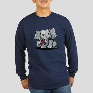 KiniArt Elephant Long Sleeve Dark T-Shirt