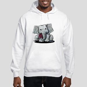 KiniArt Elephant Hooded Sweatshirt
