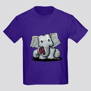 KiniArt Elephant Kids Dark T-Shirt