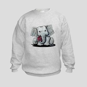 KiniArt Elephant Kids Sweatshirt