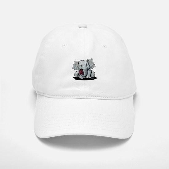 KiniArt Elephant Baseball Baseball Cap