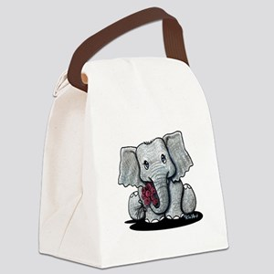 KiniArt Elephant Canvas Lunch Bag