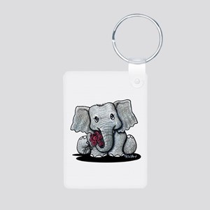 KiniArt Elephant Aluminum Photo Keychain