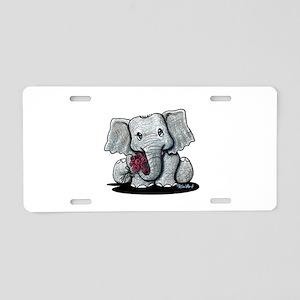 KiniArt Elephant Aluminum License Plate