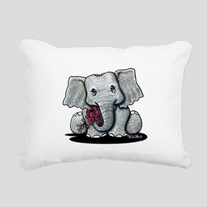 KiniArt Elephant Rectangular Canvas Pillow