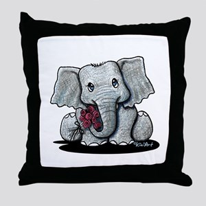 KiniArt Elephant Throw Pillow