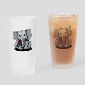 KiniArt Elephant Drinking Glass