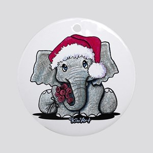 KiniArt Elephant Ornament (Round)