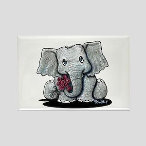 KiniArt Elephant Rectangle Magnet