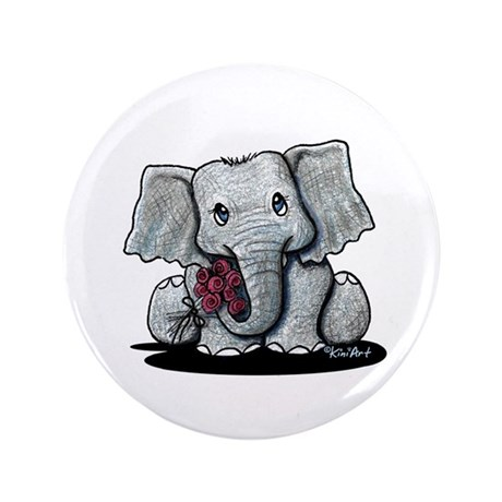 "KiniArt Elephant 3.5"" Button (100 pack)"