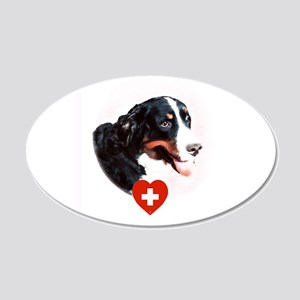 I Love My Bernese Mountain Dog 20x12 Oval Wall Dec