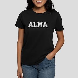 ALMA, Vintage Women's Dark T-Shirt
