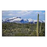 Snow in the Superstition Wilderness Sticker (Recta