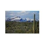 Snow in the Superstition Wilderness Rectangle Magn