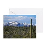 Snow in the Superstition Wilderness Greeting Cards