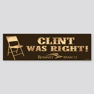 Clint Was Right! Sticker (Bumper)