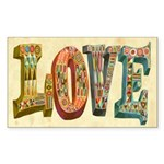 Love Sticker (Rectangle 50 pk)