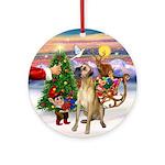 Santa's Treat for his Great Dane Ornament (Round)