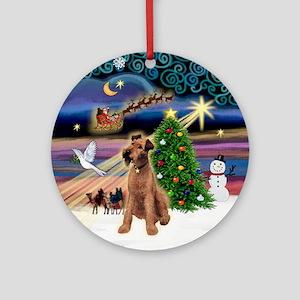 Xmas Magic & Irish Terrier Ornament (Round)