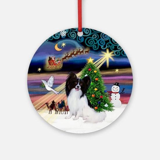 Xmas Magic & Papillon Ornament (Round)