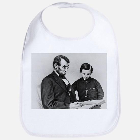 Abraham Lincoln and Son Tad Bib Civil War gift