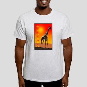 African Giraffe Ash Grey T-Shirt