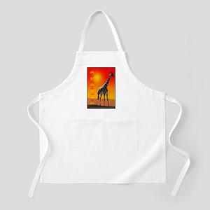 African Giraffe BBQ Apron