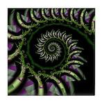Confetti Spiral Tile Coaster