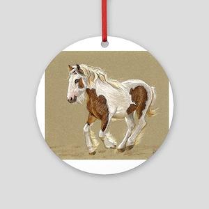 Gypsy Vanner Filly keepsake Ornament (Round)
