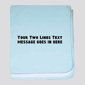 Add Text Two Lines baby blanket