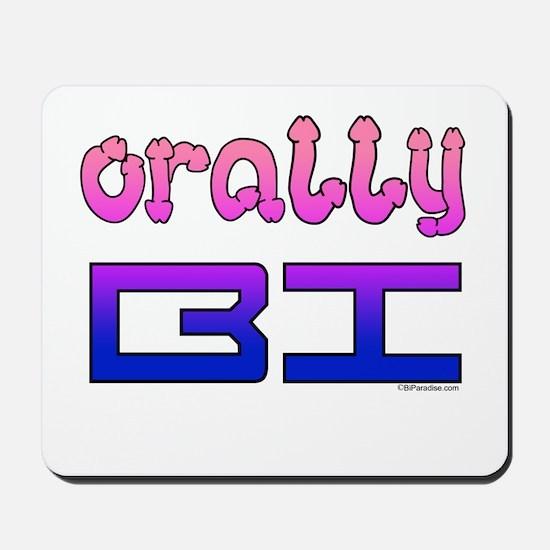 orally BI bi colors Mousepad