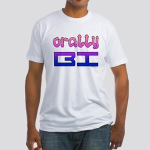 orally BI bi colors Fitted T-Shirt