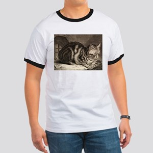 Cat, Mouse Vintage Art T-Shirt