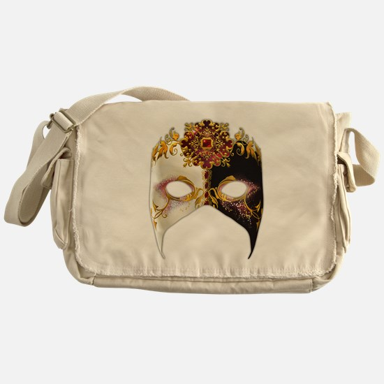 Venetian Mask: Ruby Jewel Messenger Bag