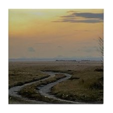 prairie dusk Tile Coaster
