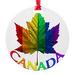 Gay Pride Canada Souvenir Round Ornament